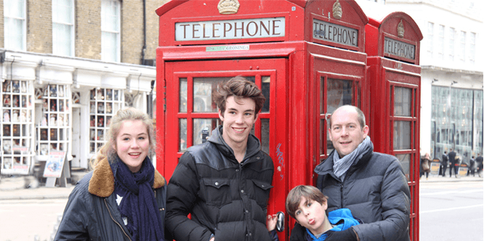 london with kids travel