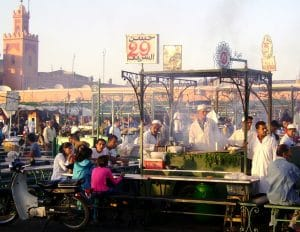 marrakech-with-kids-jemaa-el-fna-food-stalls