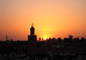 marrakech-with-kids-koutoubia-sunset