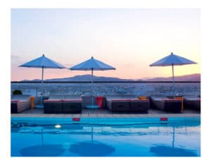 Athens with kids Novotel Hotel rooftop pool