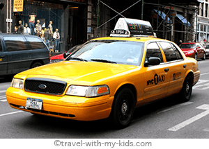 family-travel-new-york-city-with-kids-taxi