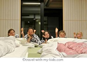 tokyo-with-kids-ryokan-futon-bed