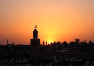 marrakech-with-kids-koutoubia-sunset