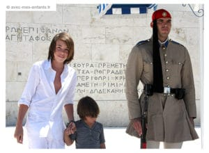 Athens with kids Syntagma square evzones