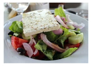 Athens with kids: the famous Greek salad