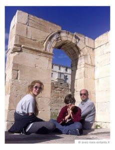 Athens with kids : Hadrian Library in Monastiraki